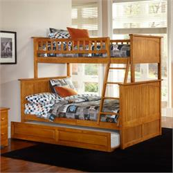 Twin/Full Panel Bunk Beds 7004 Image
