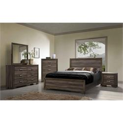 Driftwood Queen Bed, Nite Stand, Dresser, Mirror 1650 Image