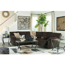 Hopkinton Chocolate Reclining Sectional 76009 Image