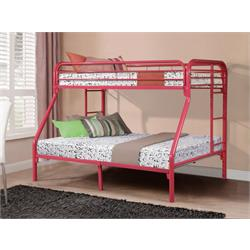 Twin/Full Bunkbed Gloss Hot Pink 4502-3-TFHP Image