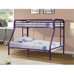 Twin/Full Bunkbed Gloss Purple 4502-3-TFPU Image