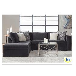 Ultimate Ebony/Mephis Ivory/Classy Alloy Sectional 2030 Image