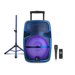 "Red 15"" BT Loudspeaker Package with Tripod/Mic PARTY 15-RPKG Image"